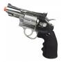 Revólver Cromado Pressão Co2 Rossi Win Gun 708s 4.5mm 313fps