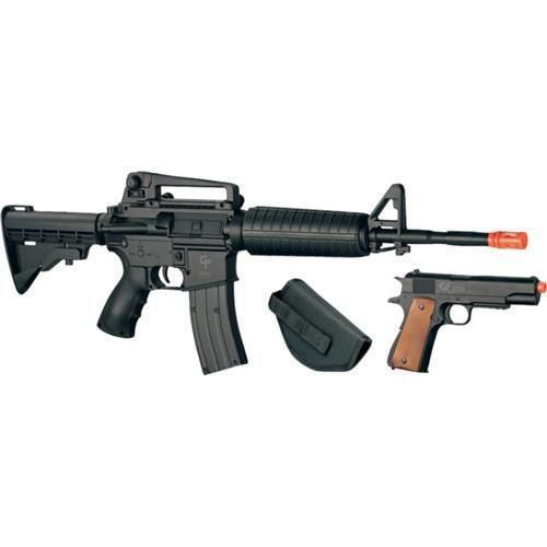 Airsoft Defender Strike Kit Rifle GF M4 + Pistola GF 1912 - Crosman
