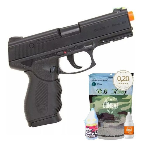 Airsoft Pistola Wingun W24/7 Rossi Spring + 4000 Bbs + Óleo