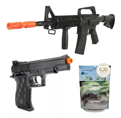 Airsoft Rifle M16 8905a + Pistola 1911sw Spring Rossi Vigor