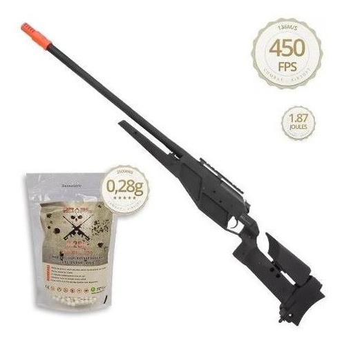 Airsoft Sniper Blaser R93 Lrs1 Mola 6mm King Arms + Bbs 0,28