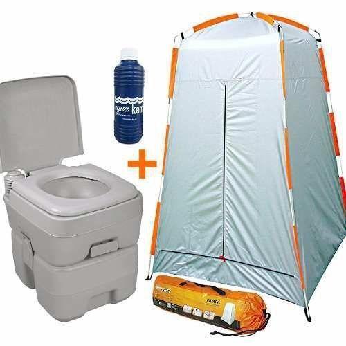 Banheiro Portátil Ecocamp + Trocador + Solvente Nautika