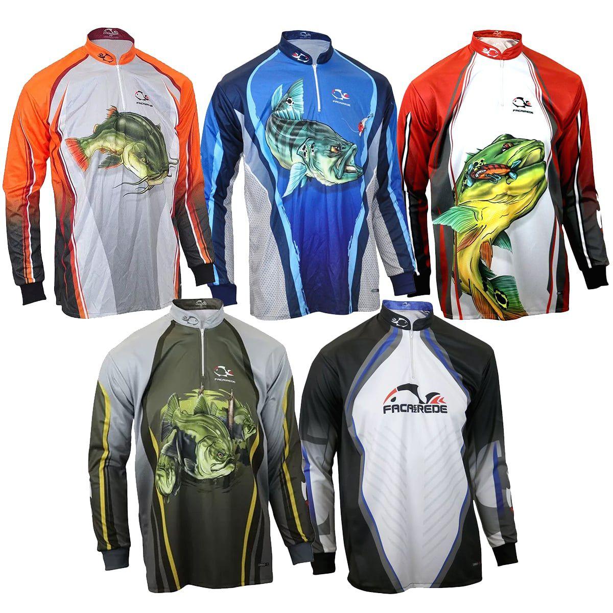 Camiseta De Pesca UV Faca Na Rede Combat S 19 Modelos
