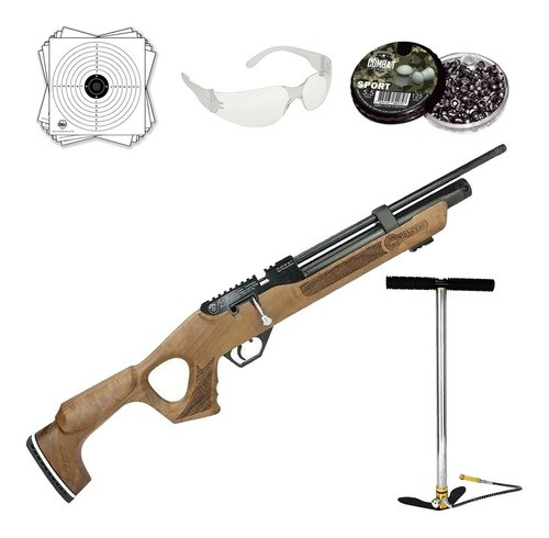 Carabina De Pressão Hatsan Pcp Flash Wood 5,5mm 12 Tiros + Bomba