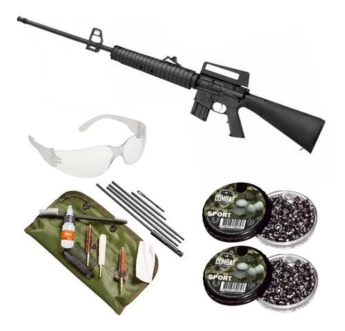 Carabina De Pressão Rossi Rifle M-16 R 5,5mm + Kit Limpeza