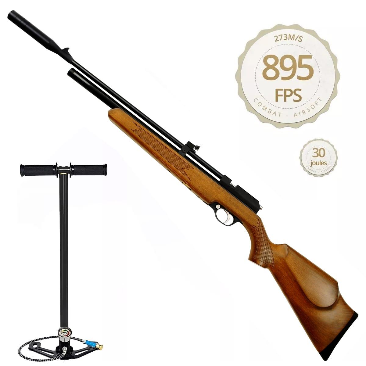 Carabina De Pressão Espingarda Pcp Artemis Pr900w 4.5mm + Bomba Manual Pneumática Fixxar