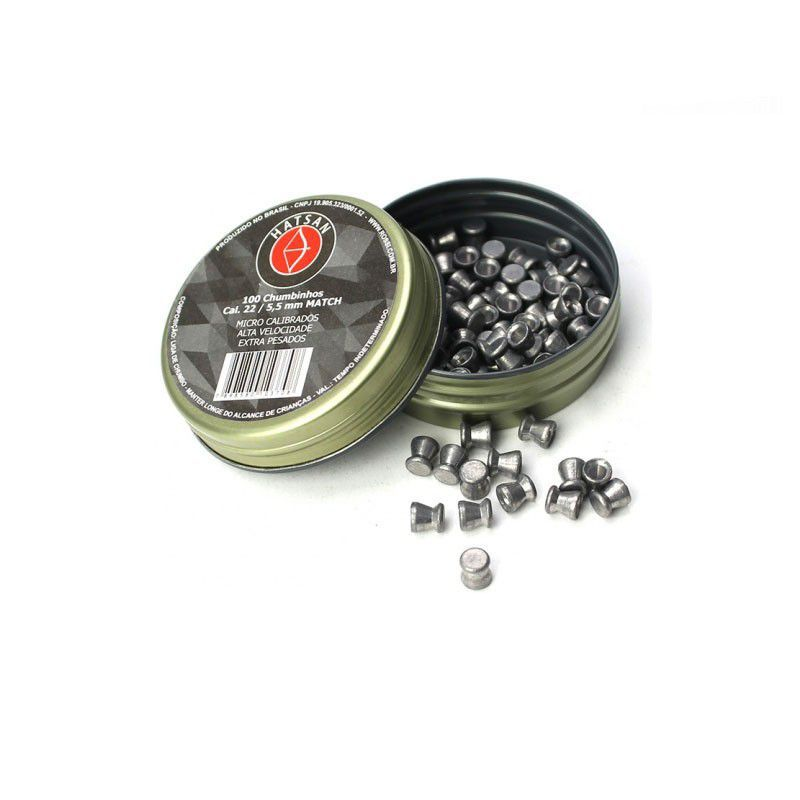 Chumbinho Hatsan Match 5.5mm Micro Calibrados 1000un