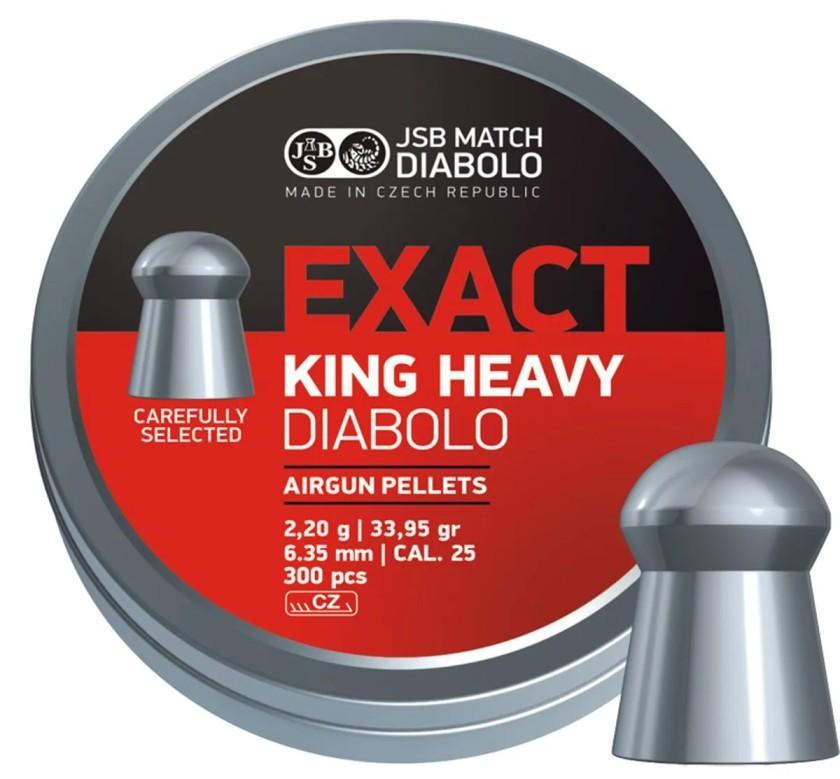 Chumbinho JSB Diabolo Exact King Heavy 6.35mm 150un