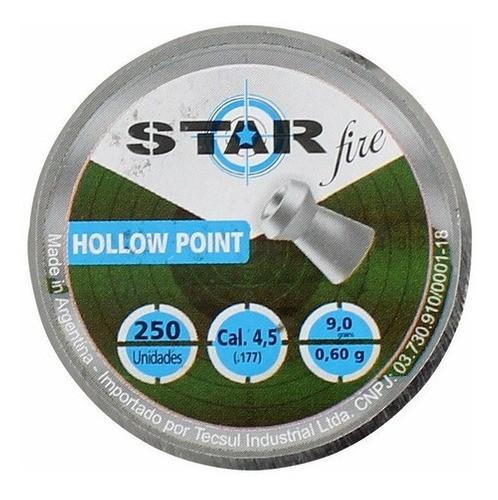 Chumbinho Star Fire Hollow Point 4.5mm 250un.