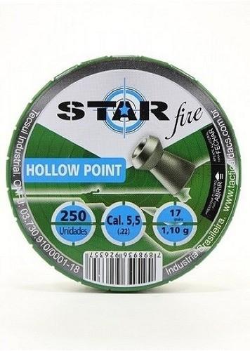 Chumbinho Star Fire Hollow Point 5,5mm 1,10gr Box C/ - 250un