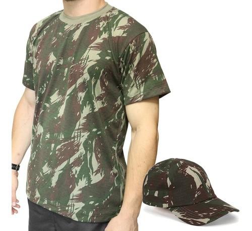 Combo Camiseta Camuflada + Boné Camuflado Eb Dacs