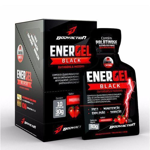 Energel Black - Guaraná c/ açaí 10 Sachês - Body Action
