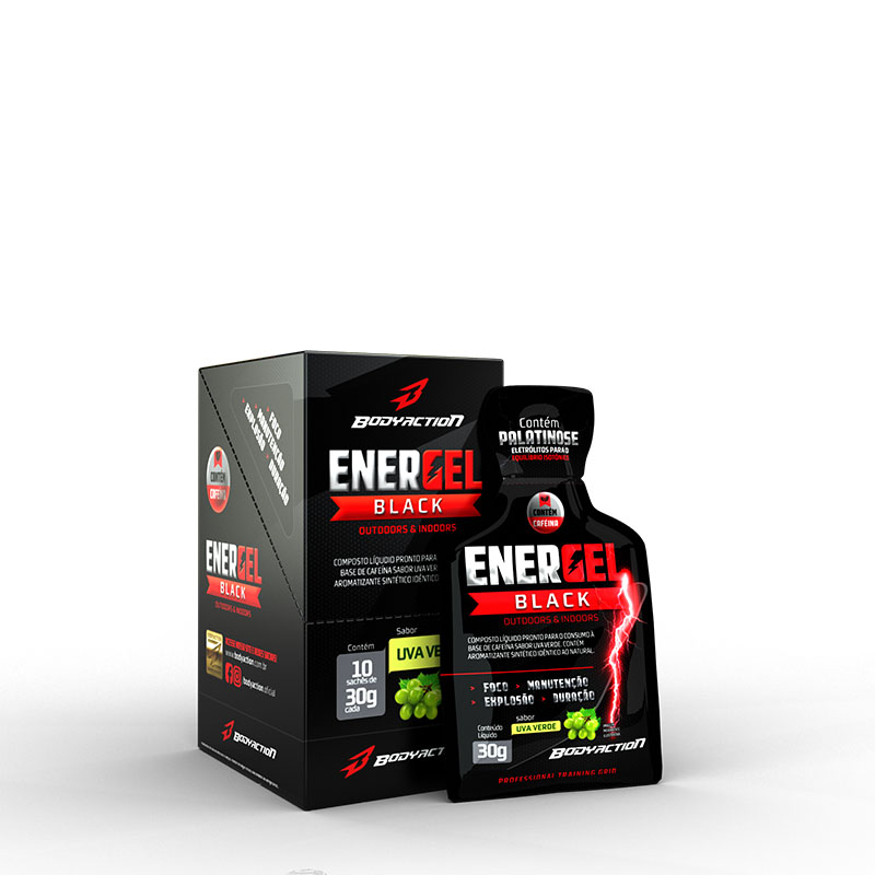 Energel Black - Uva Verde 10 Sachês - Body Action