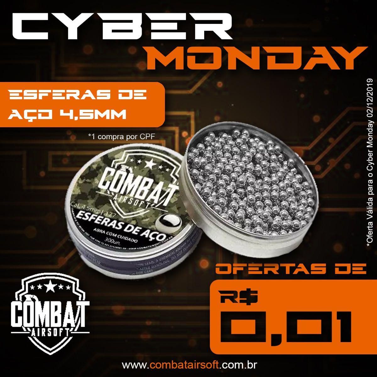 Esferas de Aço Combat airsoft 4,5