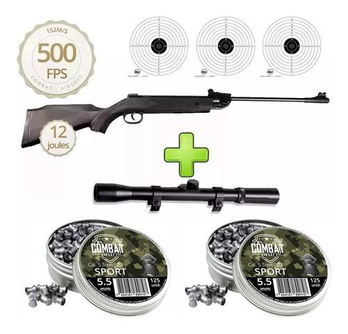 Carabina De Pressão Qgk14 Black Edition 5,5mm + Luneta + Chumbinhos