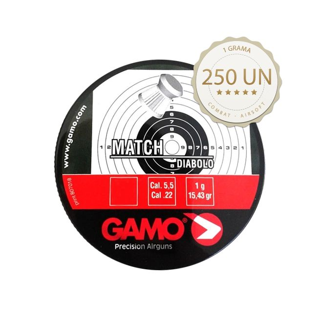 Kit 10 Chumbinho Gamo Match Diabolo 5.5mm 250un