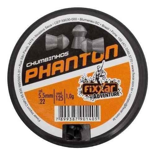 Kit 12 Chumbinho Phanton 5.5mm 125 Unidades - Fixxar 1500 Un