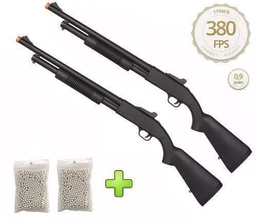 Kit 2 Shotgun Spring Airsoft Rifle Cyma Zm61a 6mm