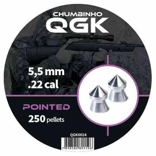 Kit 5 Chumbinho Qgk Pointed 5,5 Mm C/ 250 Unidades