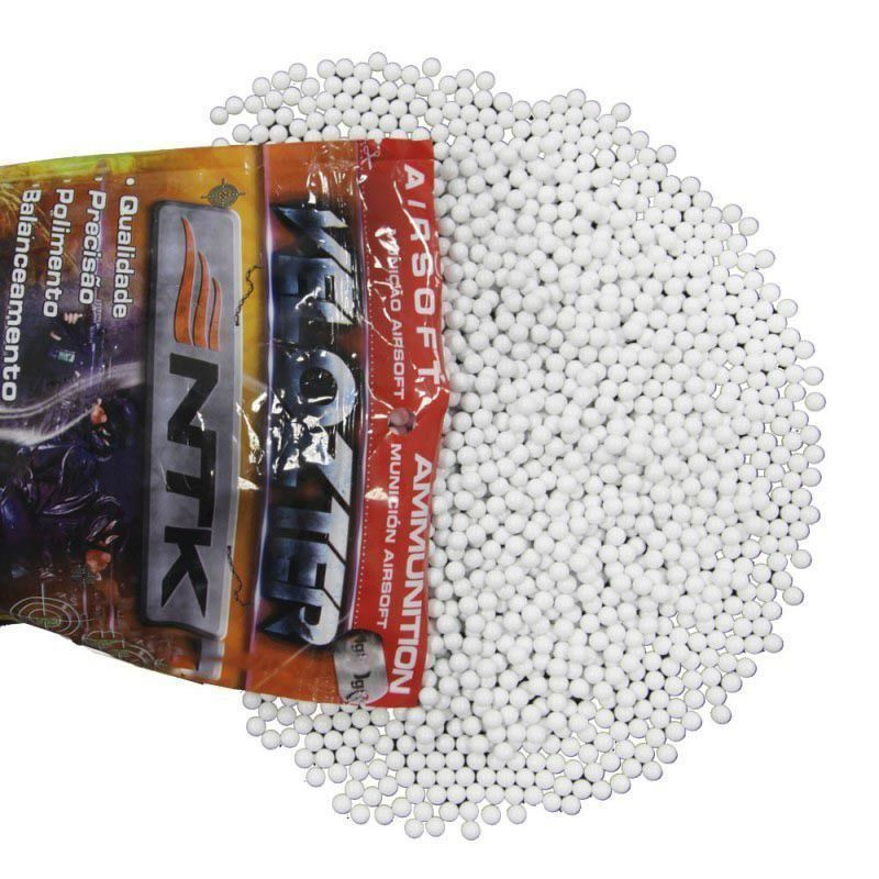 Kit Airsoft 0,20g Velozter Branca 10 Pacotes De 50000 Unid