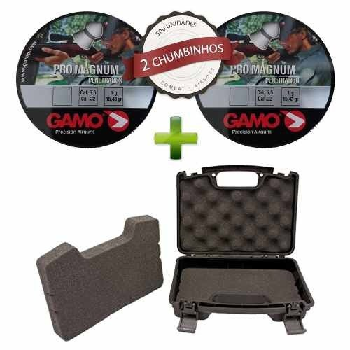 Kit Chumbinho Gamo Pro Magnum 5.5mm 500un + Maleta Ntk