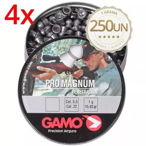 Kit Chumbinho Gamo Pro Magnum 5.5mm - Latinha C/ 1000 Unidades  - Combat Airsoft