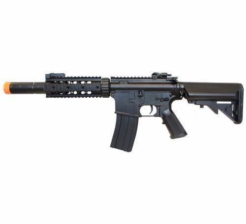 Kit Commando Rifle Bivolt Airsoft Cyma M4a1 Cm513 + Pistola CO2 Airsoft C11 + 8000 BBs + Mascara