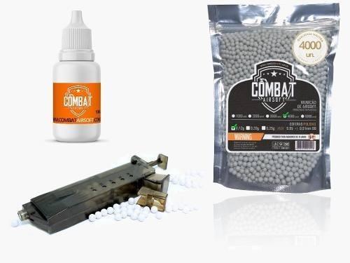Kit Oleo Silicone + Speed Loader Cyma + 4000 Bbs Combat 0.12
