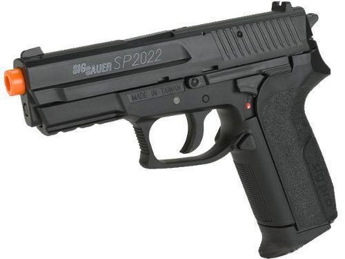 Kit Pistola Airsoft CO2 Sig Sauer SP2022 Slide Metal 6MM + Cilindro + 5000 BBs
