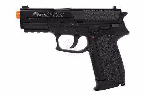 Kit Pistola Airsoft Co2 Sigsauer Sp2022 6mm Slide Metal Fixo + Maleta NTK + 2000 BBs