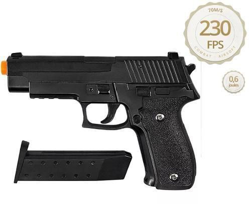 Kit Pistola Airsoft Galaxy G26 Full Metal + 2000 Bbs Combat
