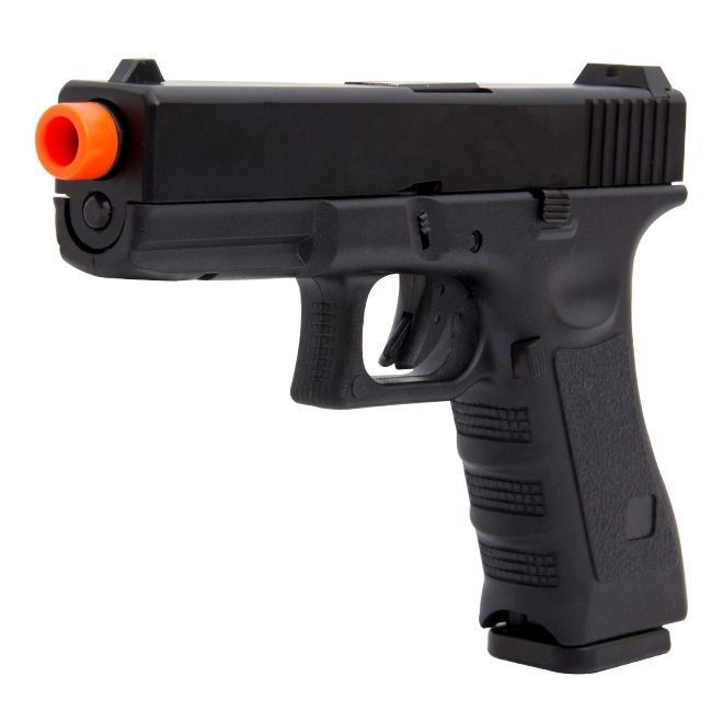 Kit Pistola Airsoft Glock R17 Polímero Blowback + Green Gás + 4000 Bbs