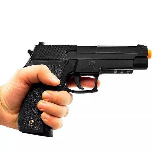 Kit Pistola Airsoft Spring G26 P226 6mm + Coldre Polimero G003