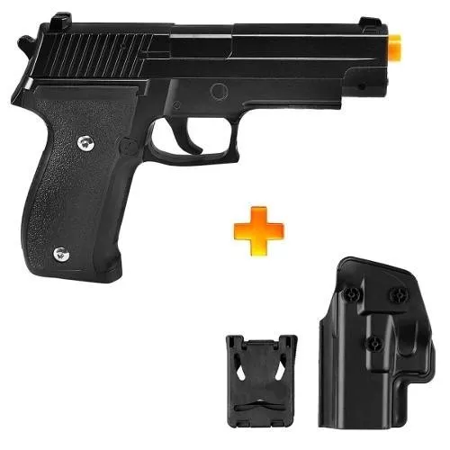 Kit Pistola Airsoft Spring G26 P226 6mm + Coldre Polimero G003