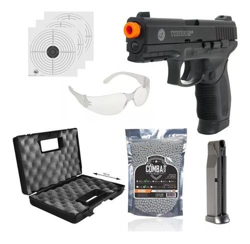Kit Pistola Airsoft 24/7 6mm Co2 Cybergun + Maleta + 2000bbs + Oculos + Alvos