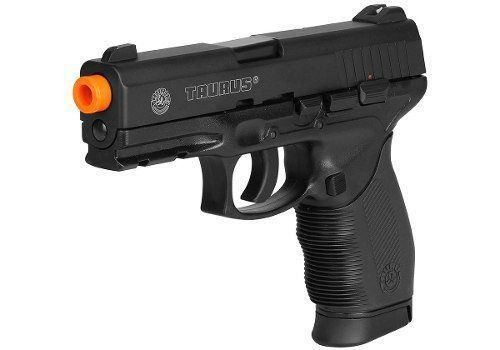 Kit Pistola Airsoft Taurus 24/7 Co2 Cybergun Metal + Coldre + 4000 BBs + 10 Cilindros