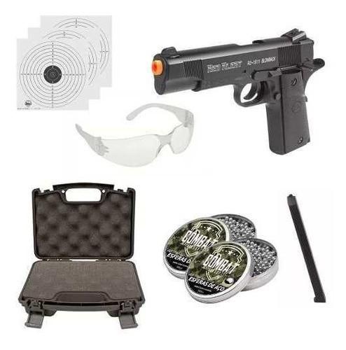 Kit Pistola Gamo Rd-1911 Blowback 4.5mm Co2 + Case + Esferas + Oculos + Alvos