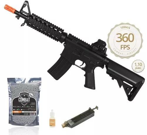 Kit Rifle De Airsoft M4a1 CM506 Aeg Ris Cqb 6mm + BBs + Speed Loader + Oleo de Silicone