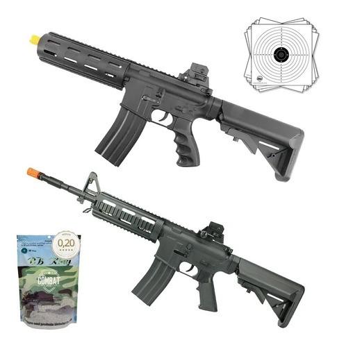 Kit Rifles Airsoft Vigor 8912 Ar Riper + 8913 M4 Swat + Bbs
