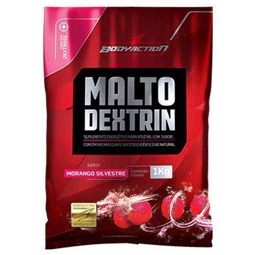 Malto - 1000g morango silvestre - BodyAction