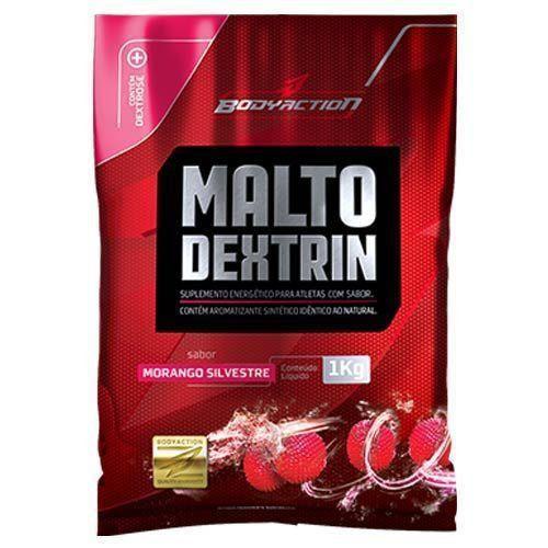 Malto Dextrin - 1000g morango silvestre - BodyAction