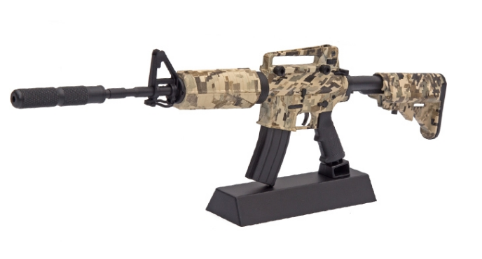 Miniatura Decorativa em Metal M4A1 Camuflada - Arsenal Guns