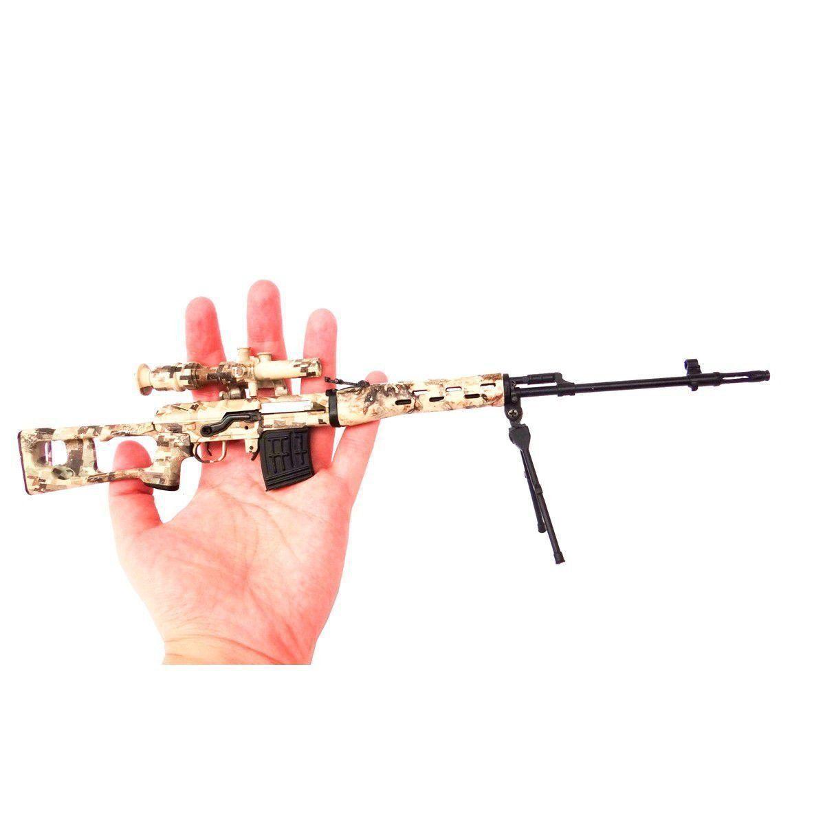 Miniatura Decorativa em Metal modelo L96-CAMO- Arsenal Guns  - Combat Airsoft