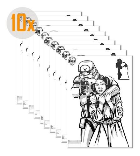 Pack 10 Alvos Silhueta Tiro Papel A3 Tema Star Wars