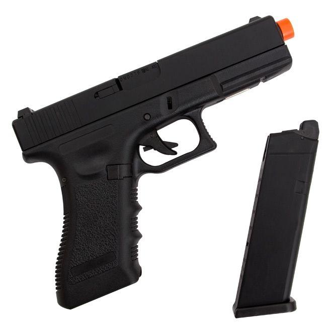 Pistola Airsoft Gás Glock R17 Polímero Gbb Blowback 6mm - Army Armament