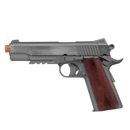 Pistola Airsoft Co2 Colt 1911 Rail Gun Stainless Nbb Cal. 6mm - Cybergun