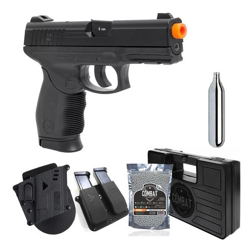 Pistola Airsoft Co2 Kwc 24/7 Polímero 6mm + Coldre + Brindes
