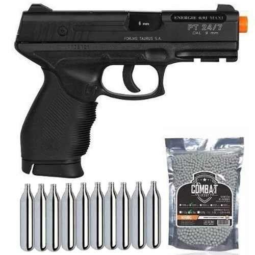 Pistola Airsoft CO2 Cybergun PT24/7 Cybergun 6mm + 10 CO2 + 2000 BBs