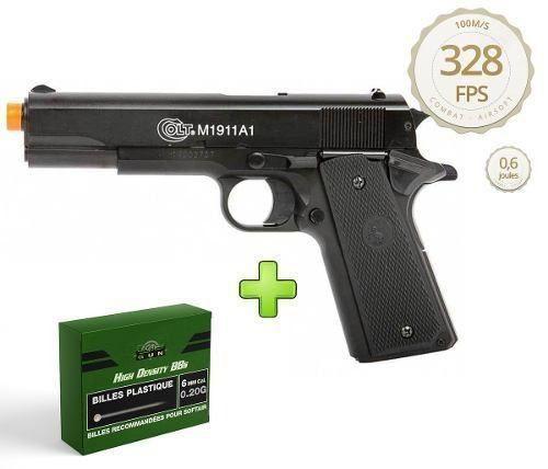 Pistola Airsoft Cybergun Colt M1911 A1 Slide Metal