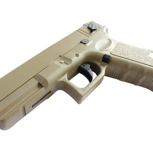 Pistola Airsoft Elétrica Cyma Cm030 Glock G18 Tan+ Bb Loader